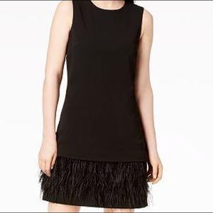 CALVIN KLEIN Feather Dress